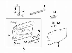 Toyota Tacoma Door Interior Trim Panel  Manual Windows W