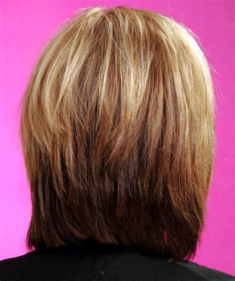 graduated layered haircut layered bob hairstyles back view medium casual 5871