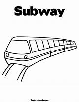 Train Subway Coloring Underground Drawing Railroad Colouring Template Quilt Metro Tunnel Sheets Sketch Getdrawings Pdf sketch template