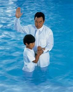 Boy Being Baptized
