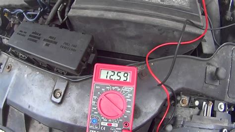multimeter  check  car battery voltage youtube