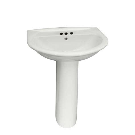 washington 550 vitreous china pedestal combo bathroom sink