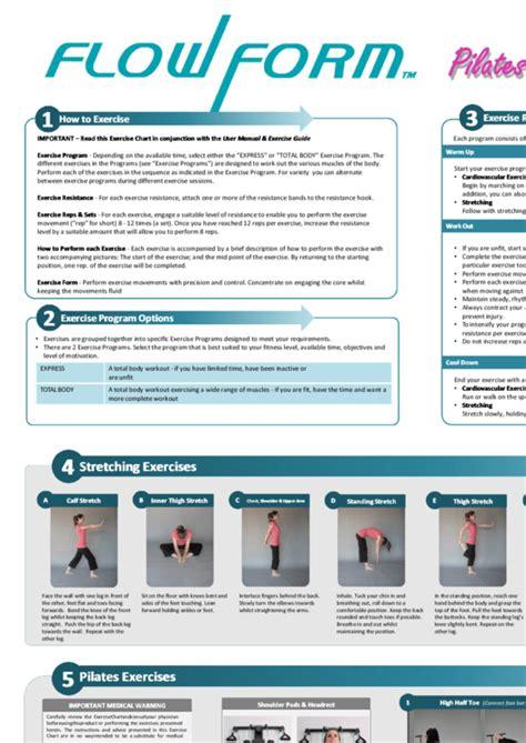 pilates exercise chart printable