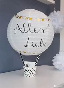 Hochzeit Geldgeschenk Verpacken : diy geschenkidee zur hochzeit hei luftballon geldgeschenk basteln diy ~ Watch28wear.com Haus und Dekorationen