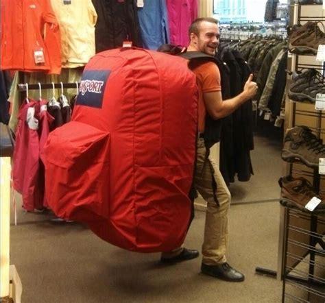 giant jansport backpack