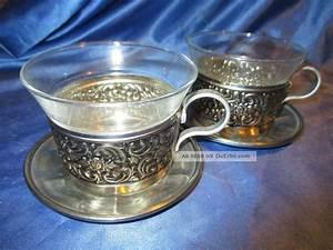 Teetassen Aus Glas : nachlass edel verzierte tassen teetassen f r 2 personen aus glas rein zinn ~ Buech-reservation.com Haus und Dekorationen
