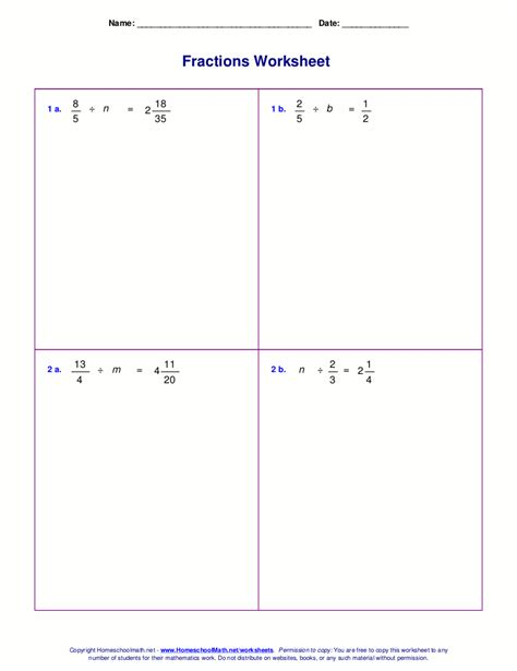 graphing linear equations with fractions worksheet