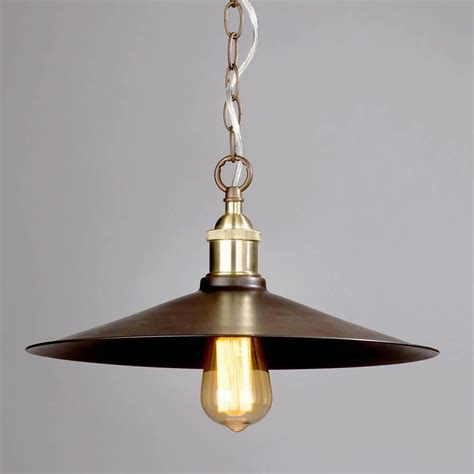 1 light industrial diner ceiling pendant bronze from