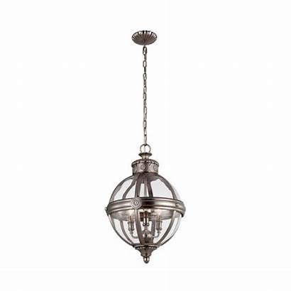 Glass Hanging Orb Antique Nickel