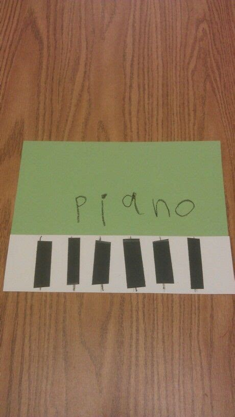 piano for preschoolers piano preschool craft musical instruments theme 854