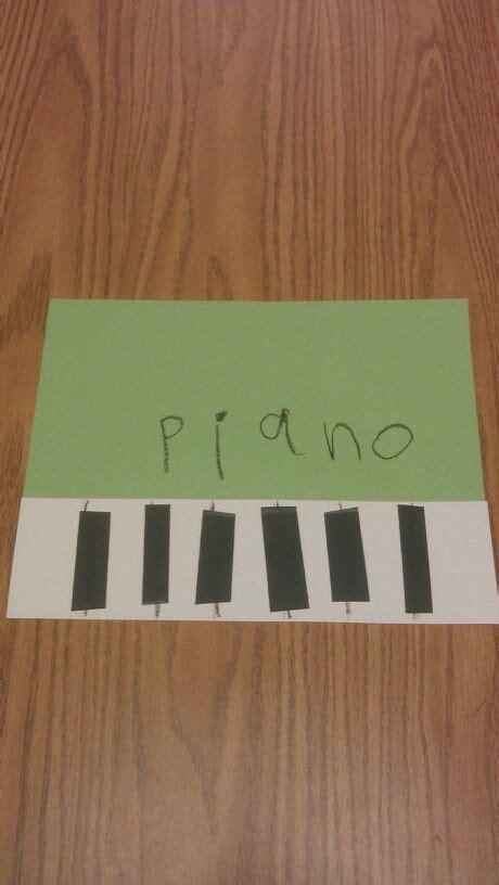 piano preschool craft musical instruments theme