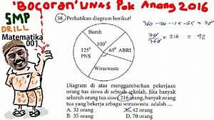 Diagram Lingkaran Sudut  Bocoran Un Matematika Smp 2016