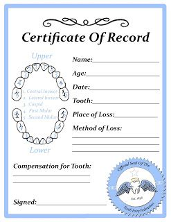 Free Printable Tooth Letter Template by Free Tooth Certificate