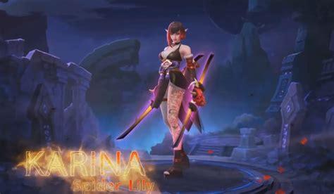 karina epic skin spider lily mobile legends blog