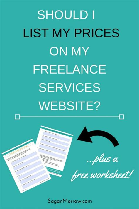 should i list prices on my freelance website freelance