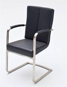 Stühle Esszimmer Schwarz : 4x schwingstuhl luzia varianten freischwinger mit armlehne ~ Michelbontemps.com Haus und Dekorationen