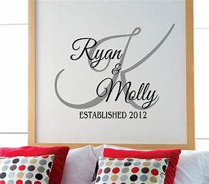 personalized family name wall decal name wall decal With personalized wall decals