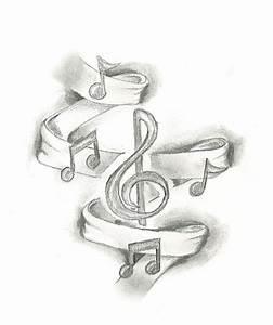 musical sketch tattoo design BusBones