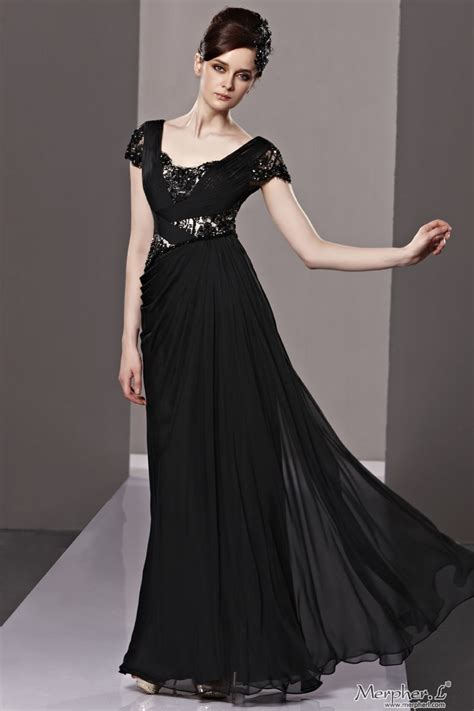 long black dress  sleeves ideas fashion