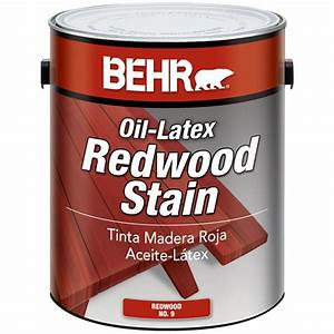 Behr 1 gal sc 330 redwood solid color waterproofing wood for Paint for wood furniture home depot