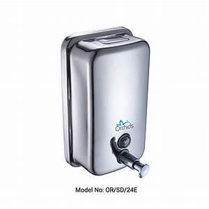 Stainless Steel Soap    Sanitizer Dispenser  U2013 Orchids