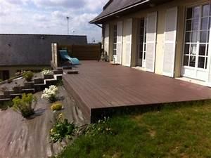 terrasse bois composite construction bois carport qualit With plan terrasse bois surelevee