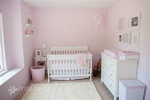 Simple pink and white girl nursery - Project Nursery