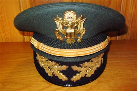 Us Army Officer Field Grade Military Green Service Dress Hat