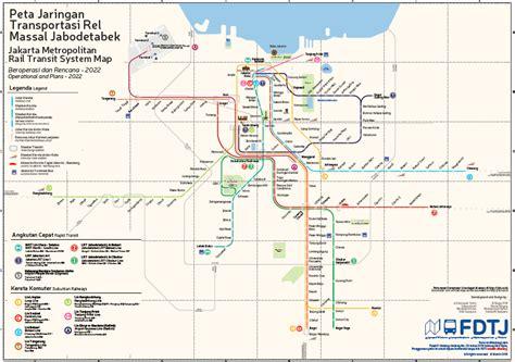 jakarta integrated rail transit map jakarta  train