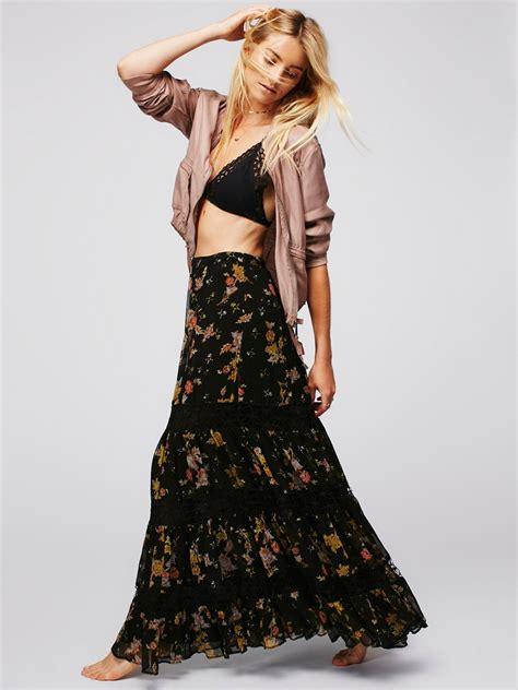 Morning Skirt morning printed maxi skirt at free clothing