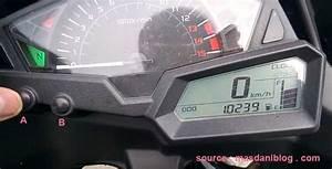 Cara Setting Jam Speedometer Ninja 250 Fi  New Megapro