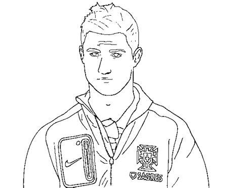 disegni da colorare di ronaldo disegno di cristiano ronaldo cr7 da colorare acolore