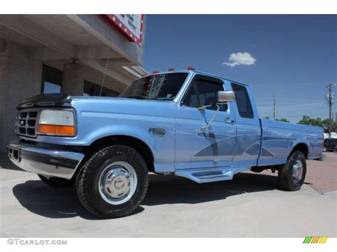 Reef Blue Metallic 1996 Ford F250 XL Extended Cab Exterior