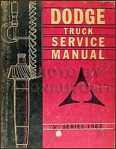 1962 Dodge Pickup  U0026 Truck Repair Shop Manual On Cd