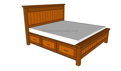 plans   platform bed  storage drawers discover woodworking projects wooden bed