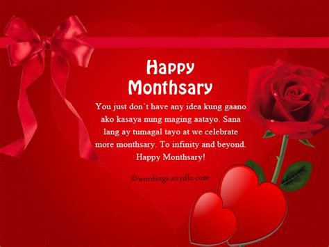 tagalog monthsary messages wordings  messages