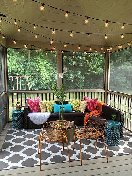 bloggers patio party patios screened  patio porch