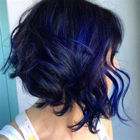 dark blue hairstyles   brighten