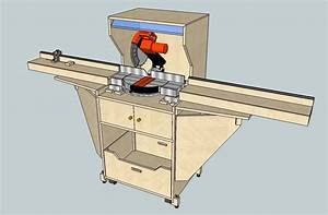 How to Build Miter Saw Stand Plans PDF Plans