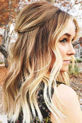 Wavy Half Updo Hairstyles by 37 Trendy Hairstyles For Medium Length Hair