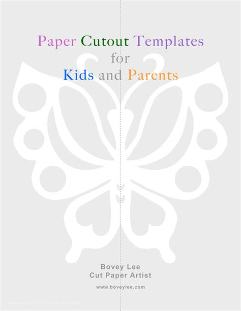 Paper Cut Out Templates free paper cutout templates for and parents boveyblog
