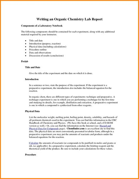 chemistry lab report template chemistry lab report template 3 best and professional templates