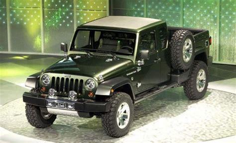 jeep wrangler pickup truck news design diesel engine  truck models