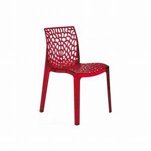 Chaise Rouge Design : table rabattable cuisine paris chaises rouge ~ Teatrodelosmanantiales.com Idées de Décoration