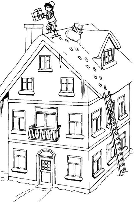 Kleurplaat Spijkers En Verf by Kleurplaat Sinterklaas Sint Op Dak Kleurplaten