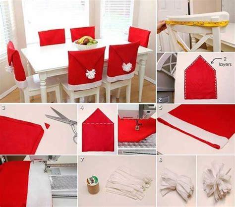 decoration de chaise pour noel l 39 idée déco du samedi des housses de chaises pour noël
