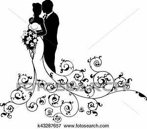 Dessin Couple Mariage Couleur : clipart mari e mari couple mariage silhouette ~ Melissatoandfro.com Idées de Décoration
