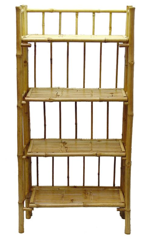 tier folding bamboo shelf display  wall shelves