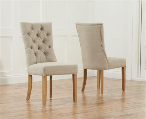buy the anais beige fabric oak leg dining chairs at oak