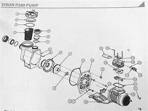Astral Hurlcon Viron P280 Pool Pump Spare Parts  U2013